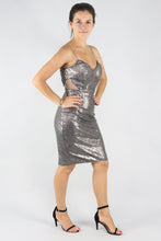 Load image into Gallery viewer, Charcoal Sequin Mini Dress - Ann Et Craig
