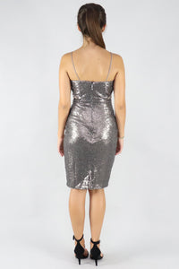 Charcoal Sequin Mini Dress - Ann Et Craig