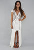 Krystal V-Neck Beaded Split Maxi - Ann Et Craig