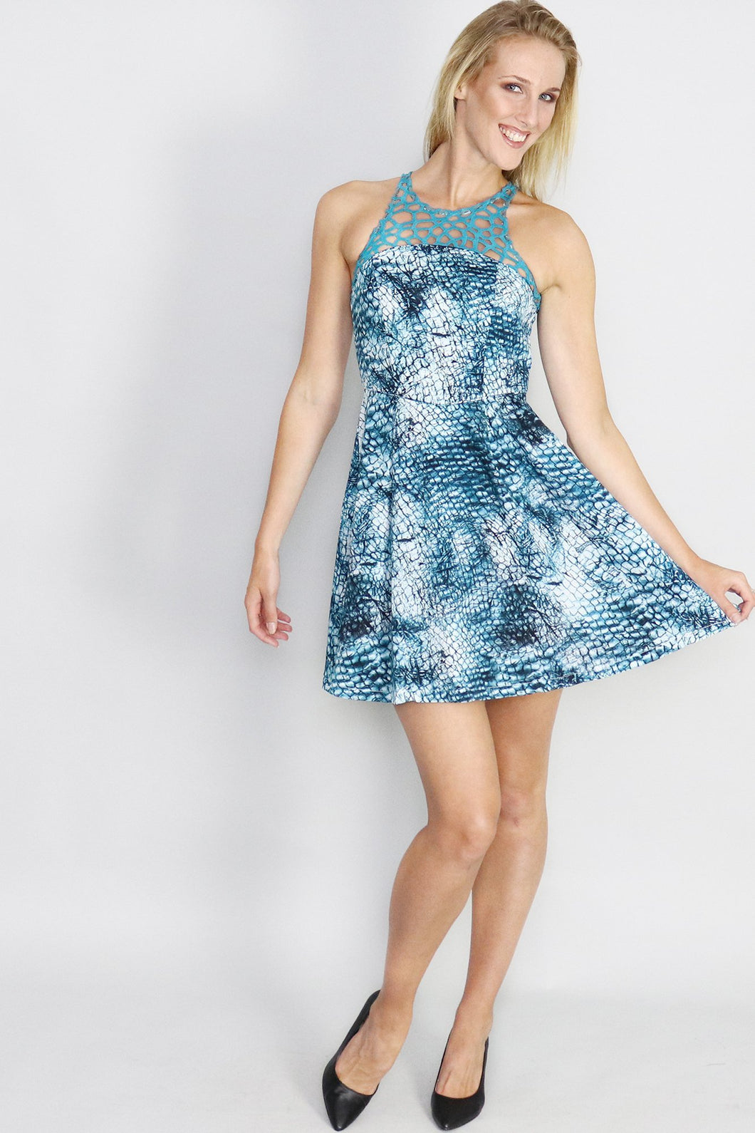 Fractured Fantansy Fit & Flare Dress - Ann Et Craig