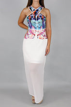 Load image into Gallery viewer, Birds of Paradise Maxi Dress in Pink & White - Ann Et Craig