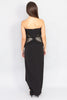 Strapless Peplum Black Dress - Ann Et Craig