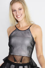 Load image into Gallery viewer, The Butterfly Effect Mesh Peplum Top - Ann Et Craig