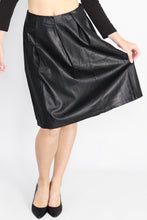 Load image into Gallery viewer, Faux Leather Midi Skirt - Ann Et Craig