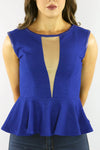 The Ripple Effect Peplum Top - Ann Et Craig