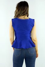 Load image into Gallery viewer, The Ripple Effect Peplum Top - Ann Et Craig