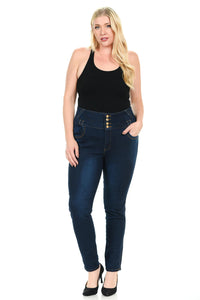 Pasion Women's Jeans - Plus Size - High Waist - Push Up - Ann Et Craig