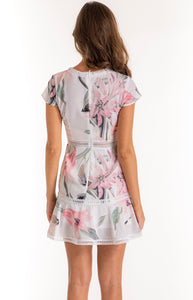 Floral Dress With Trim Details - Ann Et Craig