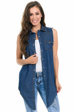 Load image into Gallery viewer, Sweet Look Women's Denim Blouse - Style Z024 - Ann Et Craig