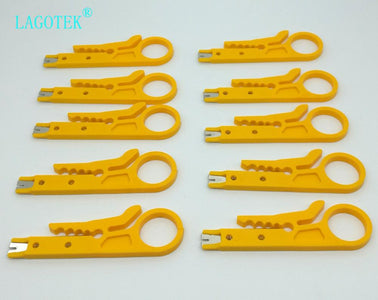 100pcs/Lot Network UTP Cable Cutter Stripper Plier Punch Down Hand Tools Easy Use Mini Portable Simple Data Cable Wire Plier
