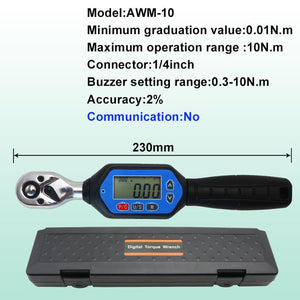 SHAHE Mini Digital Torque Wrench 1/4 3/8 1/2  Adjustable Professional Electronic Torque Wrench Digital  Hand Tools