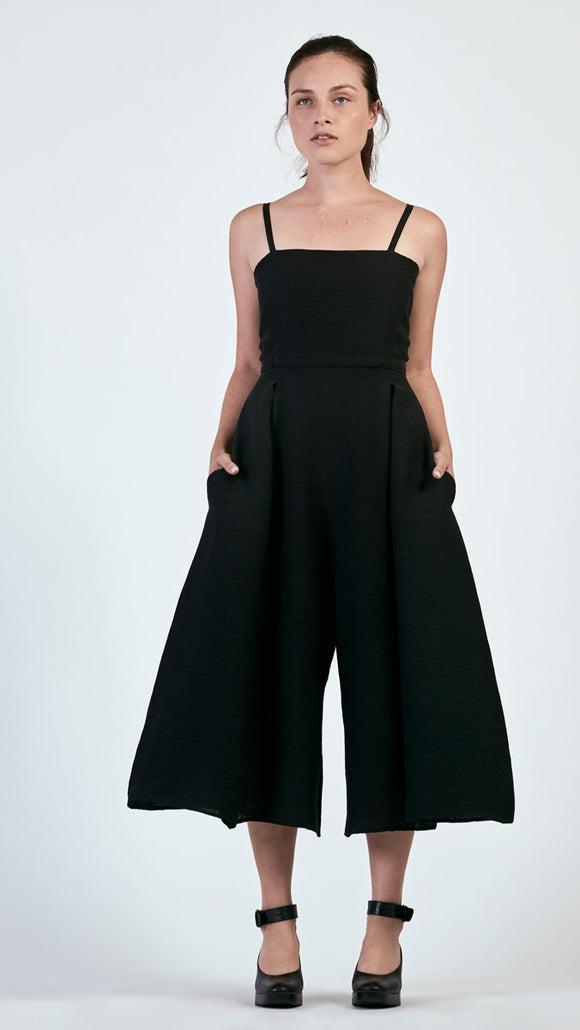 Mara Jumpsuit in Pleated Gauze