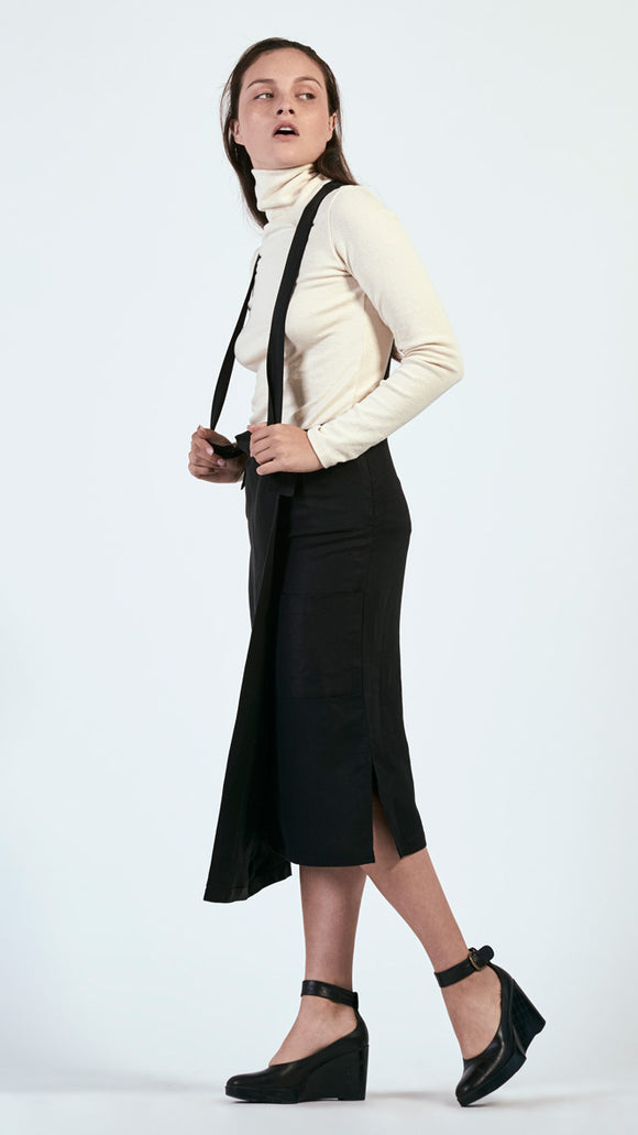 Jaki Overall Skirt in Washed Canvas
