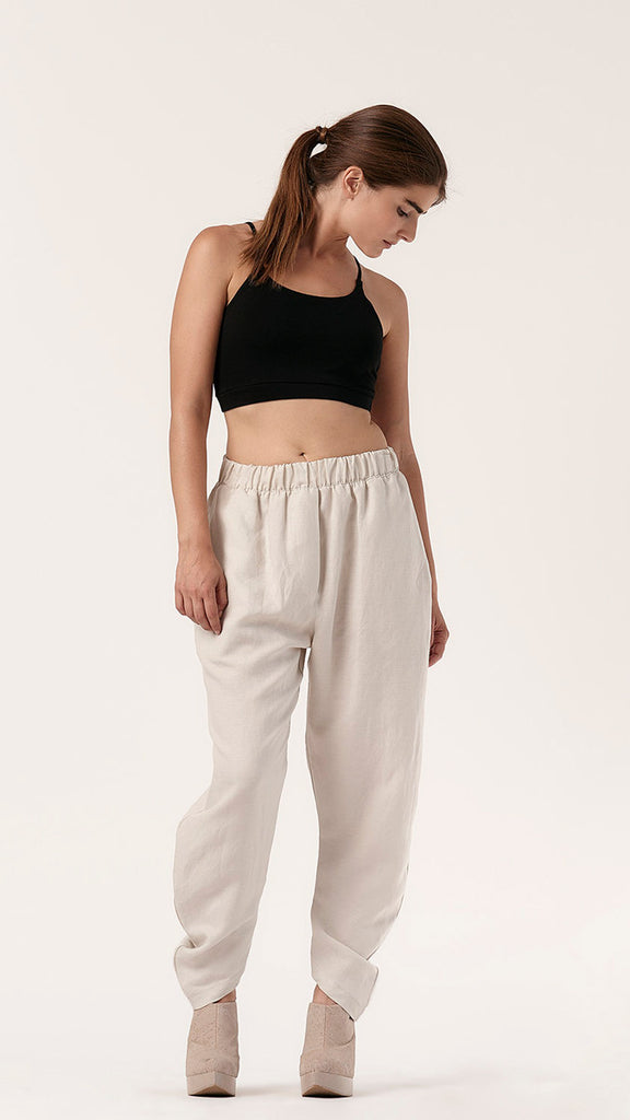 Yokai Draped Pant in Washed Canvas