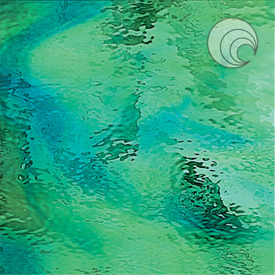 Pale Green/Aqua Blue Waterglass® Fusible (CR)