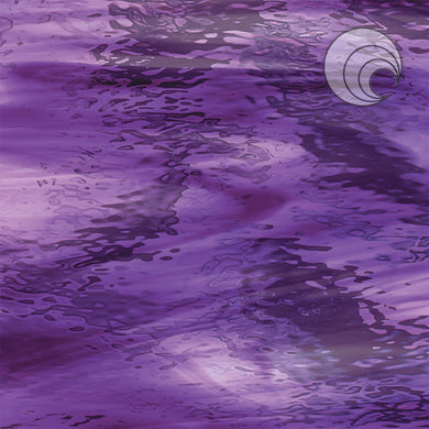 Deep Violet/Pale Purple Waterglass® Fusible (CR)