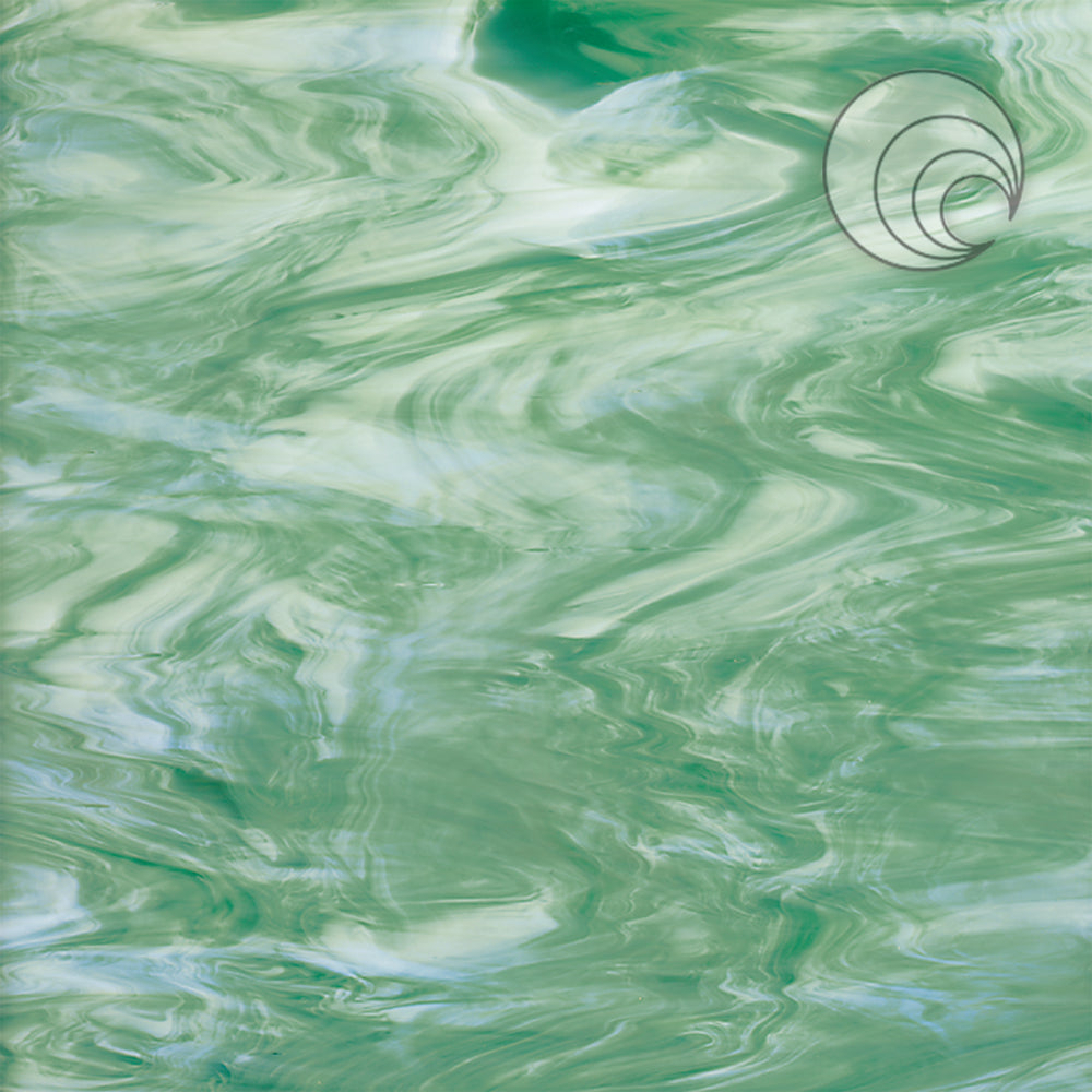 Seafoam Green/White Smooth Fusible (CR)
