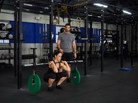stability front squat with syn rings