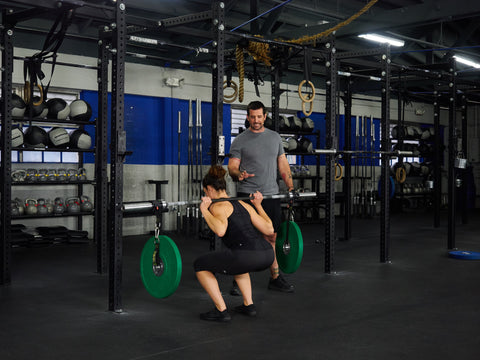 stability back squat with SYN rings rubber bands