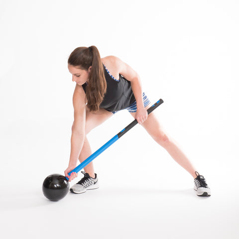 Lower body and oblique exercise with the MostFit Core Hammer