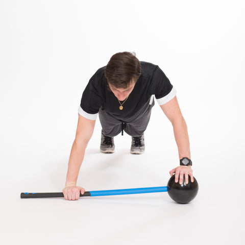 Mountain climber for core strength with the core hammer