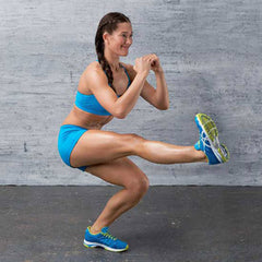 Assisted Pistol Squat Exercise