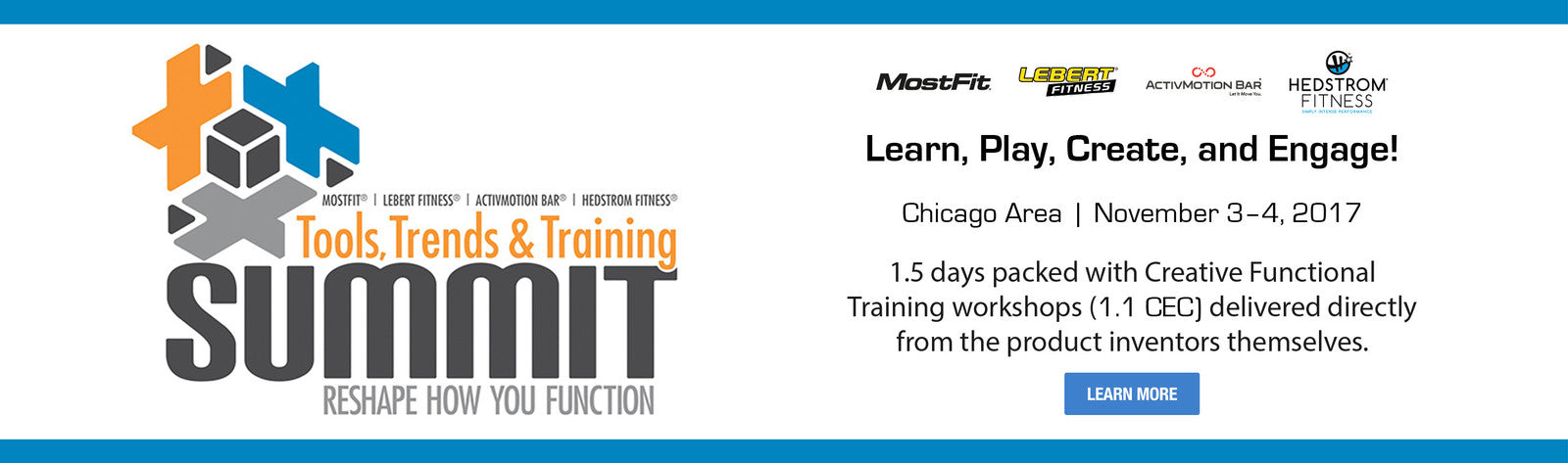 Trends, Tools and Training Summit with Hedstrom Fitness, Lebert Fitness, ActivMotion Bar, and MostFit