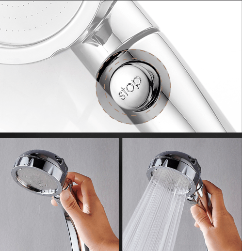 Rain Pulse II - Premium High Pressure Shower Head