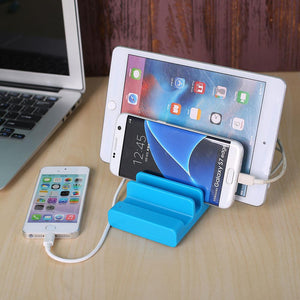 4 USB Ports Charging Charger Dock Station Mobile Smart Phone Tablet Stand Holder