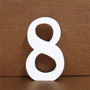 1pc 10CMX10CM White Wooden Letter English Alphabet DIY Personalised Name Design Art Craft Free Standing Heart Wedding Home Decor
