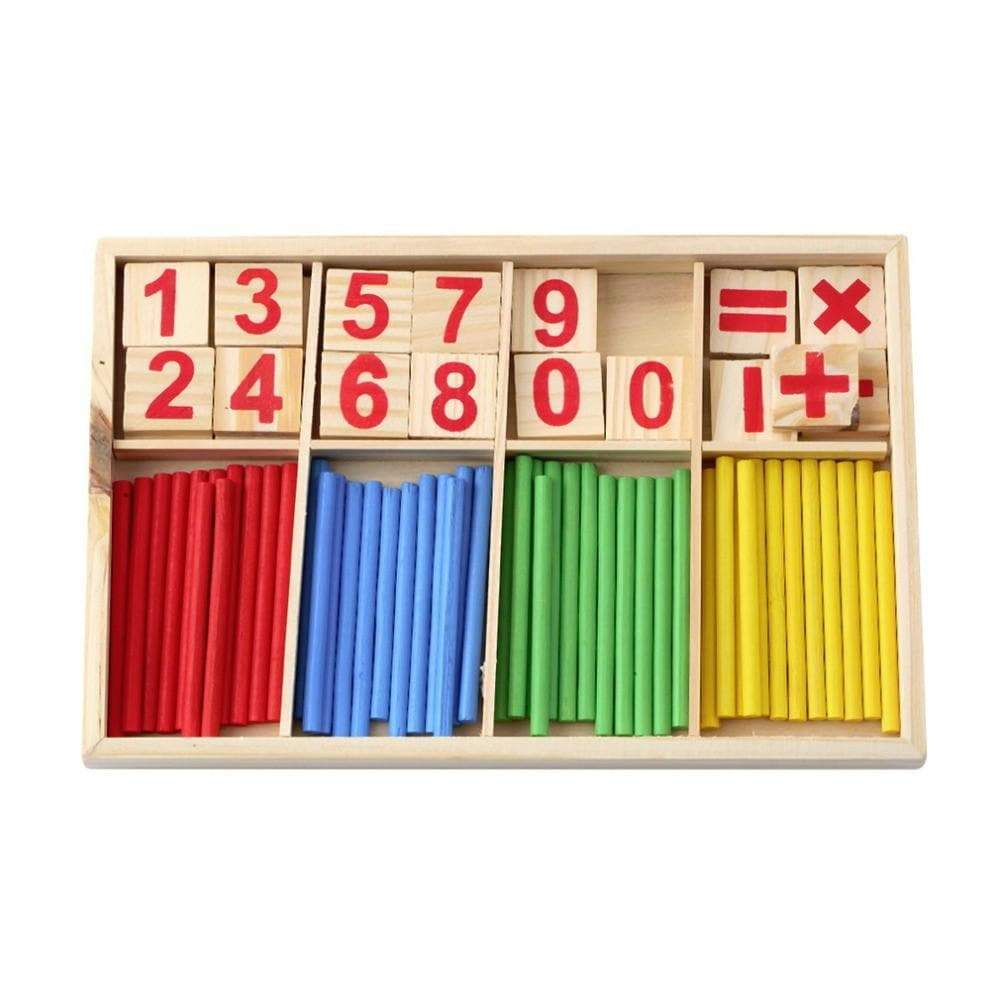 Wood Calculate digital Baby Toy Brick
