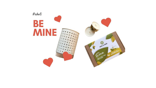 BE MINE PAKET: IZPARILNIK ELLI + PAKET SVEČ EVVA VONJ BE MINE