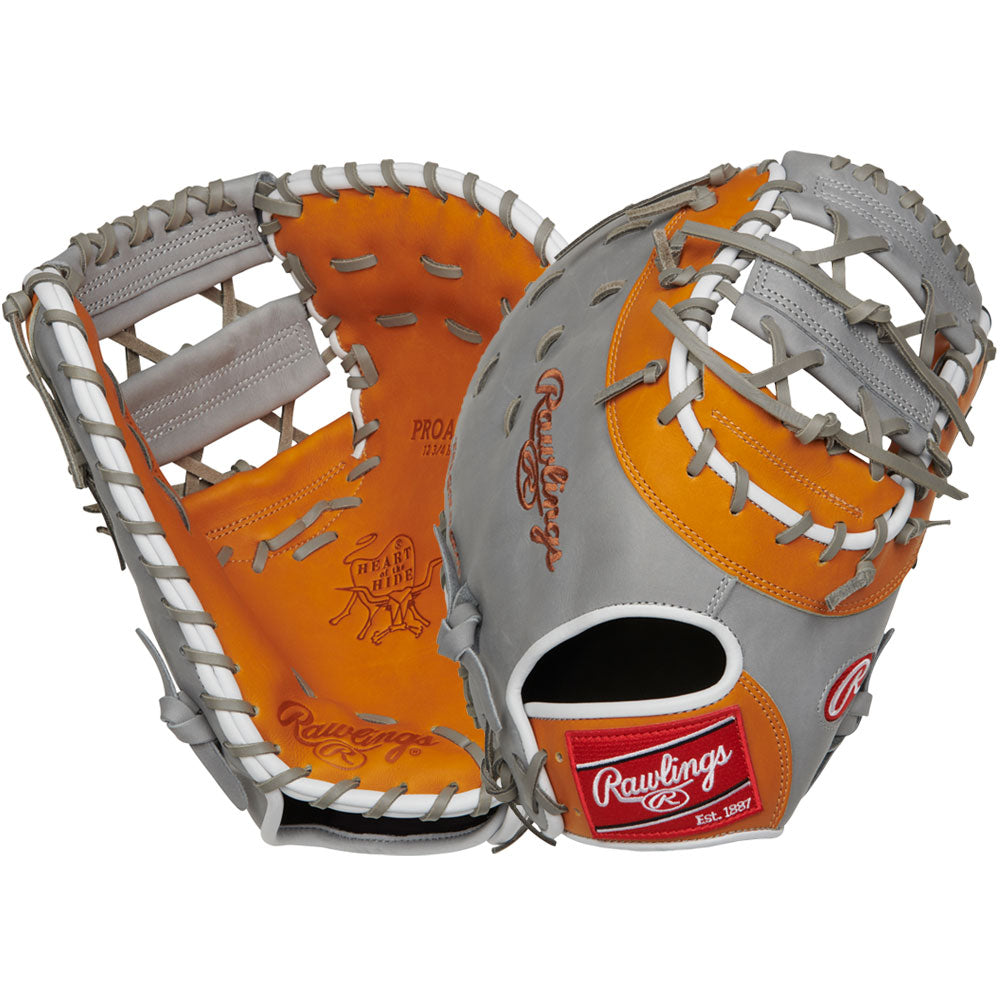 "Rawlings 12.75"" Heart of the Hide Baseball Glove PROAR44"
