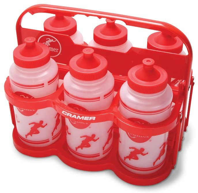 Cramer Big Mouth Squeeze Wide Mouth Water Bottles With No Leak Push/Pull Cap with Holder