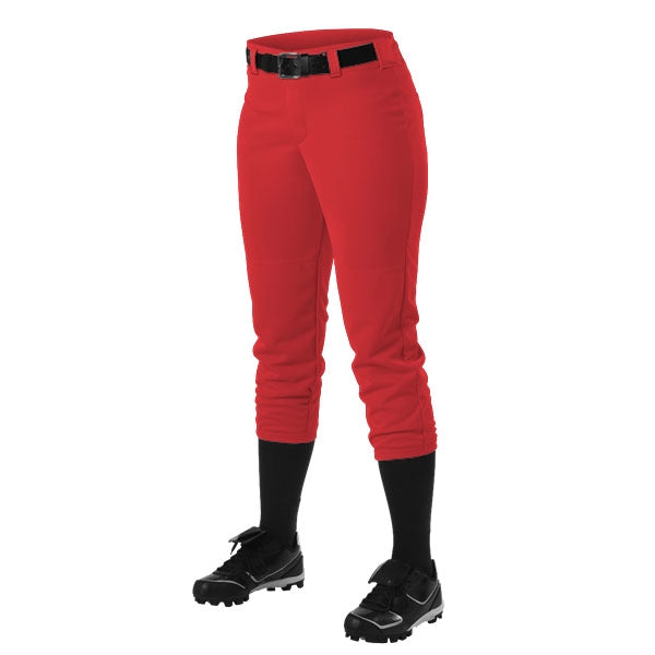 Alleson 605PBWY Girls' Fastpitch/Softball Belt Loop Pant