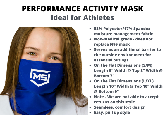 SCHOOL BADGER PERFORMANCE ACTIVITY GAITER MASK (L/XL)