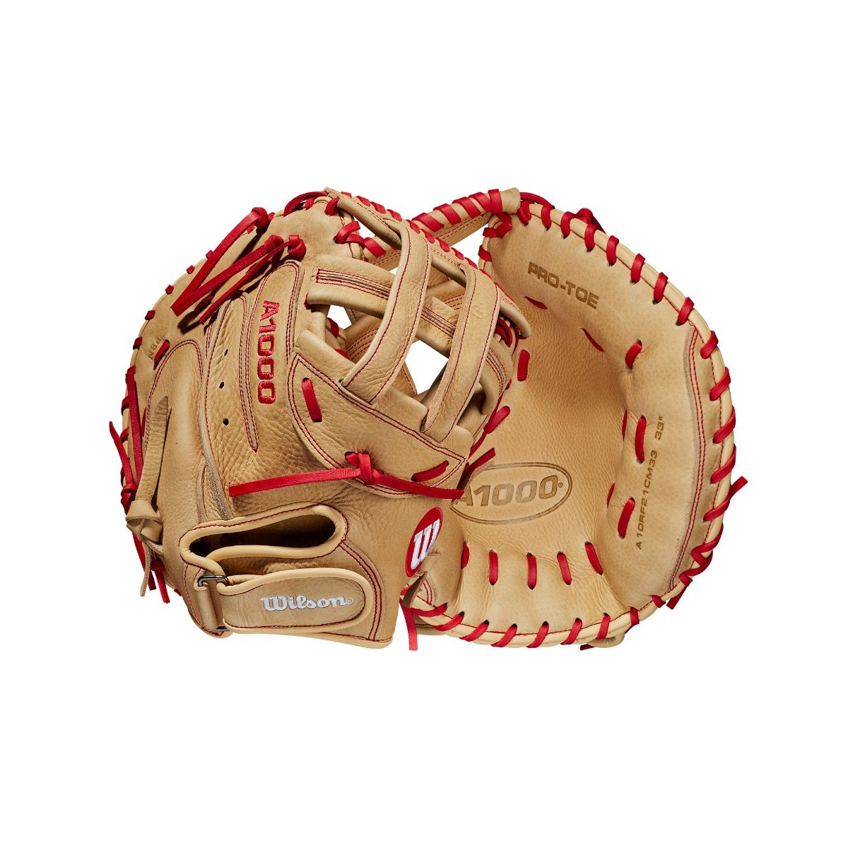 "Wilson 2021 A1000 33"" CM33 Fastpitch Softball Catchers Mitt - WBW10018633"