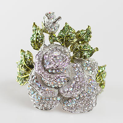 High End Rose Collection Swarvoski Crystal Rose Jewelry   (Exclusive and Limited)