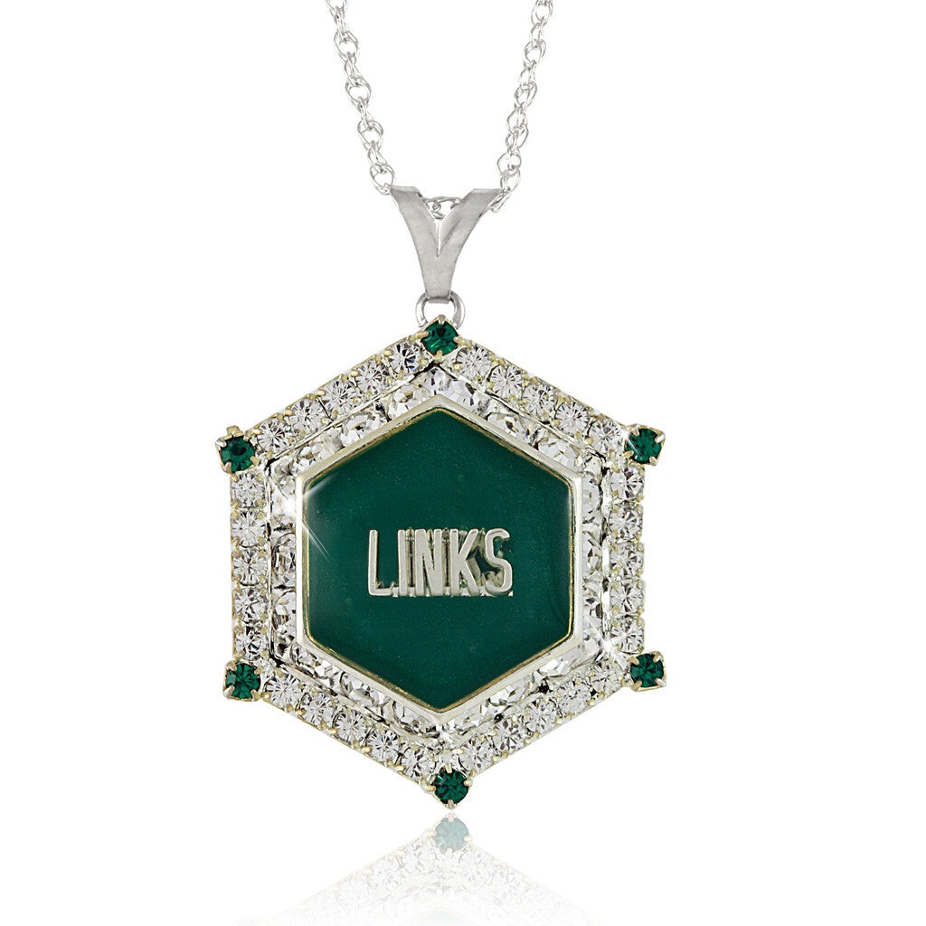 "High End LINKS Emerald ""Evening"" Necklace"