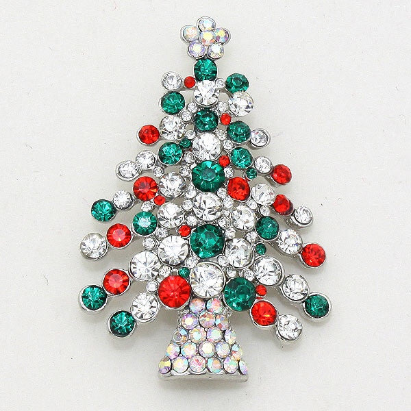 Christmas Austrian Crystal Brooch