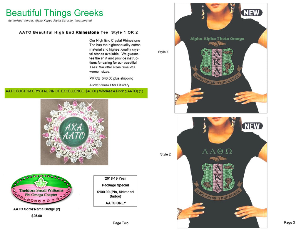 AKA NEW CHARTER CHAPTER MEMBER PACKAGES
