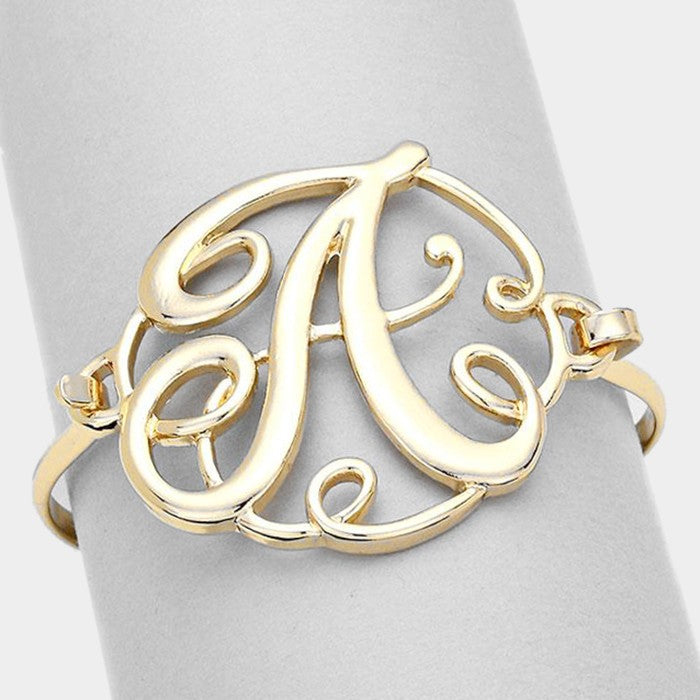 Beautiful Monogram Antique Silver Bracelet