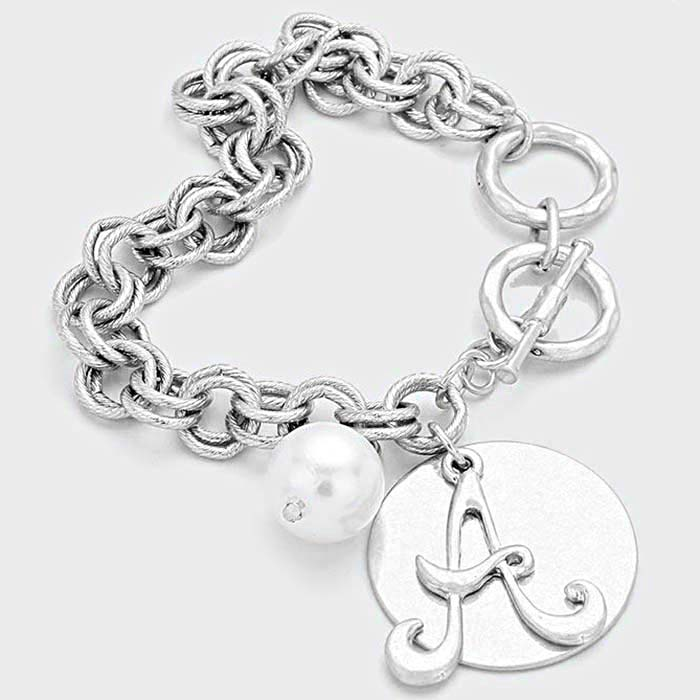 Beautiful Antique Silver Charm Bracelet