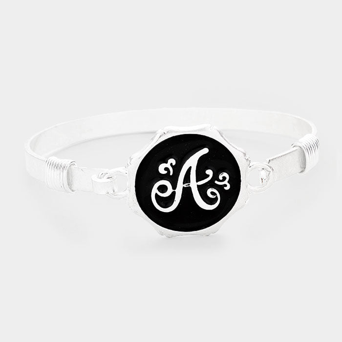 Beautiful Monogram Bracelets in Antique Silver or Gold