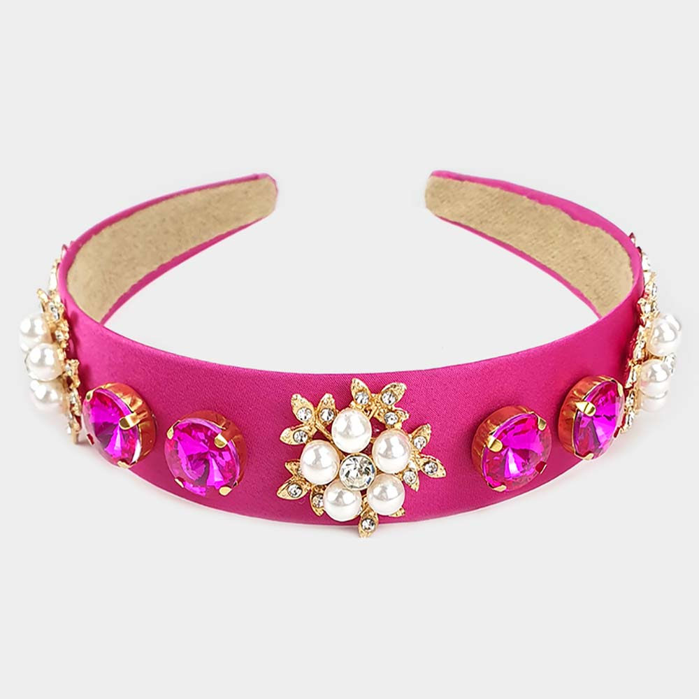 Beautiful Pink & Green Hairband (New)