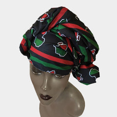 Beautiful African Wax Fabric Head Wrap