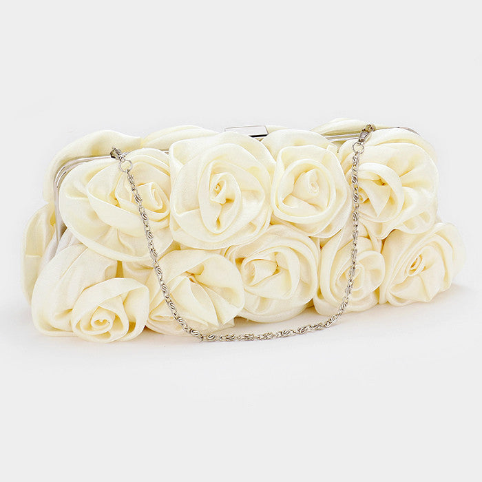 White Evening Rose  Bag