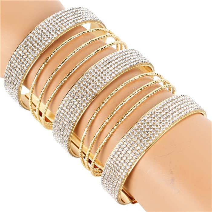 Beautiful High End Triple Rhinestone Evening Cuff Bracelet
