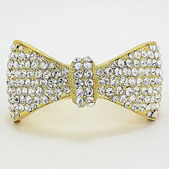 Beautiful Pave Bow Hinged Bracelet