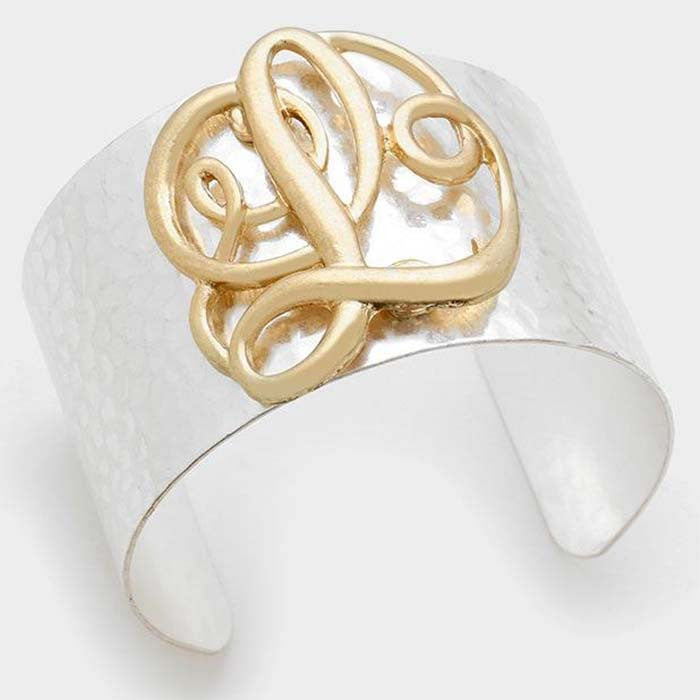 "Beautiful ""L"" Cuff Bracelet"